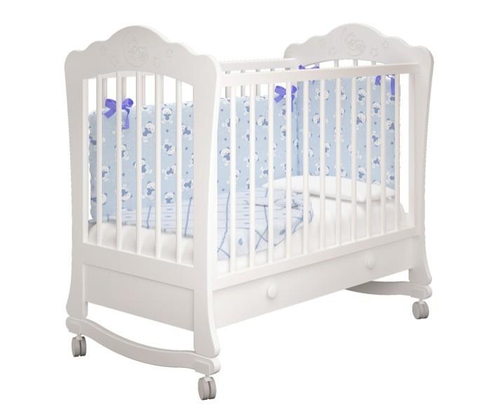 Купить белую детскую кроватку Amalia - Амалия для Новорожденного с ящиком в СПб в интернет магазине Piccolo