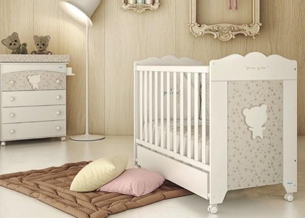 """Детская испанская кроватка для Новорожденных """" Микуна - Micuna Vintage"""" в белом цвете, на колесах, с ящиком, купить в СПб в интернет магазине для малышей Piccolo - detki (Пикколо-детки) на Фокина 1."""