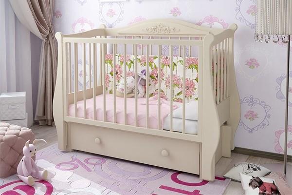 Детская кроватка для Новорожденных Джульетта, купить в СПб в магазине Piccolo - detki (Пикколо-детки) на Фокина 1.