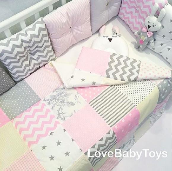 """Одеяло лоскутное LoveBabyToys, коллекция """"Маленькая принцесса"""""""